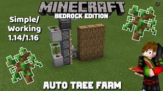 NEW Simple/Working Auto Tree Farm: MCPE Minecraft Bedrock 1.14/1.16 (2020)