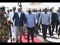 President Uhuru's heroic welcoming in Kisumu