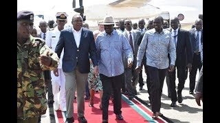 President Uhuru's heroic welcoming in Kisumu