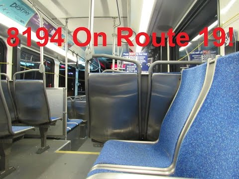 NeoplanDude SEPTA 2008 New Flyer DE41LF #8194 On Route 19, To Torresdale Station!