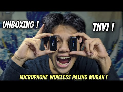 UNBOXING WIRELESS MICROPHONE PALING MURAH !? TNVI WIRELESS MICROPHONE