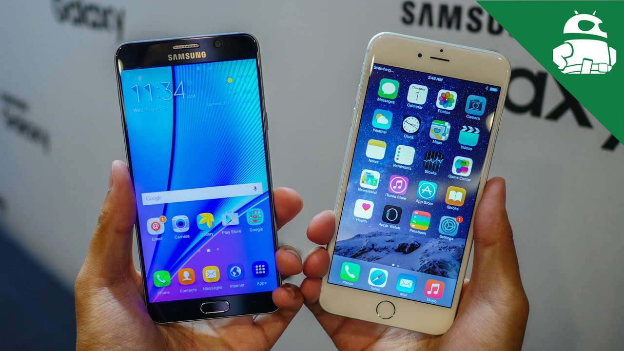 Samsung Galaxy Note 5 vs iPhone 6 Plus - Quick Look! - YouTube