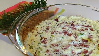 Betty's Hot Chipped Beef Dip with Melba Toast Rounds
