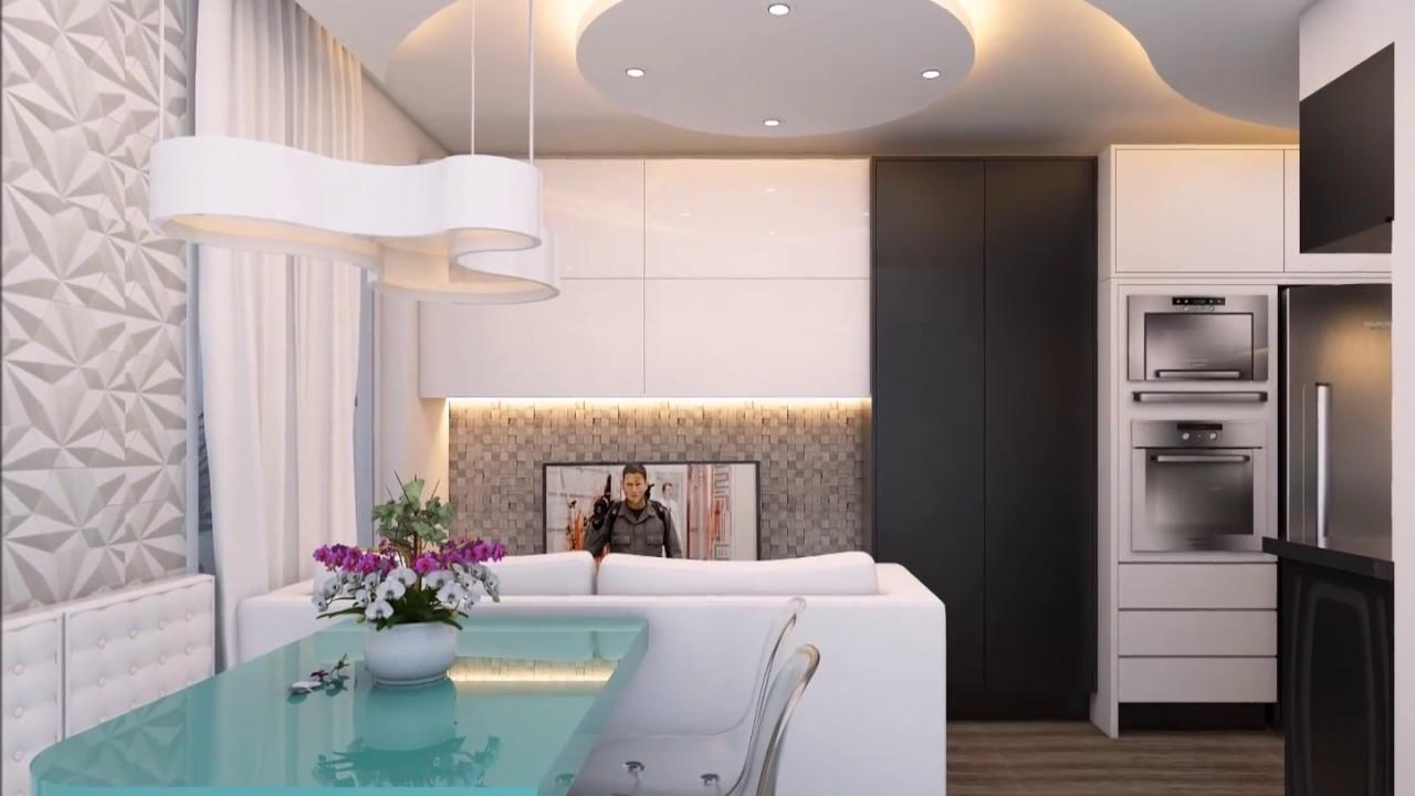 projeto design interiores apartamento compacto estudio