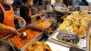 Top 8, The Best Tteokbokki Shop in Seoul Sundae, Fishcake  | Korean Street food
