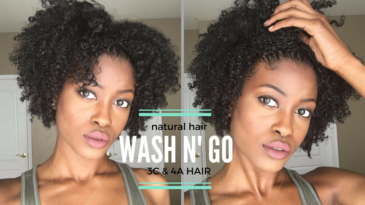 Easy Naturally Curly Hair Routine Defined Wash N Go 4a 3c Hair
