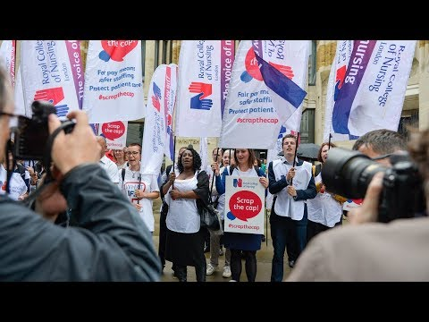 RCN Scrap the Cap Protest: Department of Health