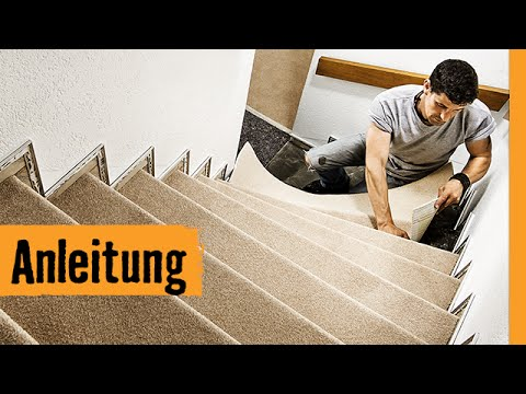 teppich auf treppe verlegen hornbach meisterschmiede youtube. Black Bedroom Furniture Sets. Home Design Ideas