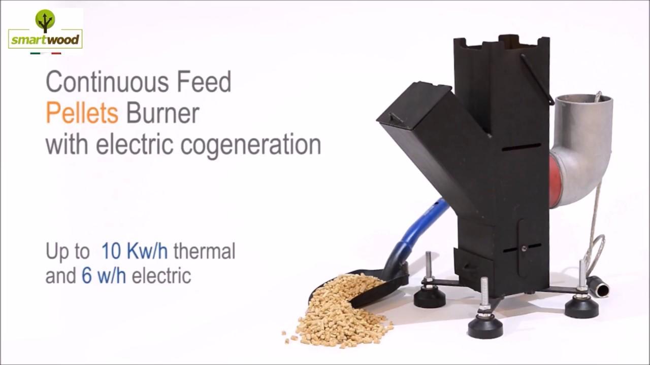 Rocket stove energy a pellet - YouTube