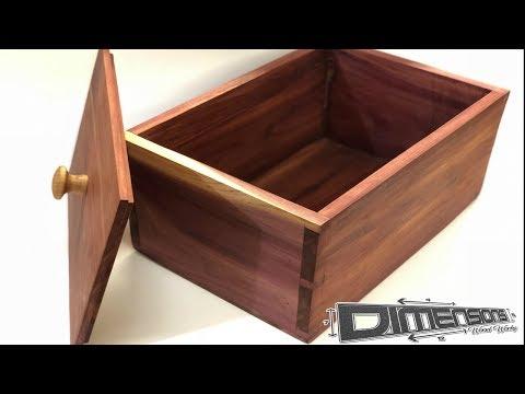 DIY Box // Keepsake Box // Handcut Dovetails