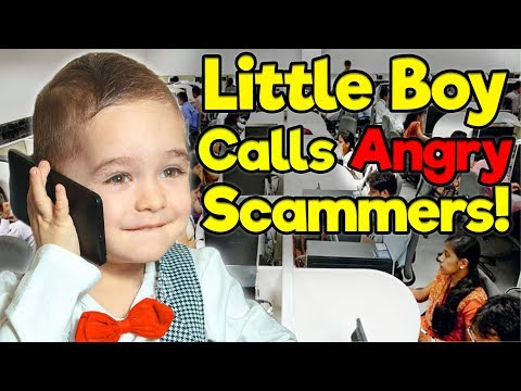 Little Boy Calls Angry Scammers! #2 (Microsoft Tech Support and IRS)