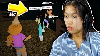 SHE PUSHED HIM OFF OF A CLIFF!! (Roblox Bloxburg Roleplay)
