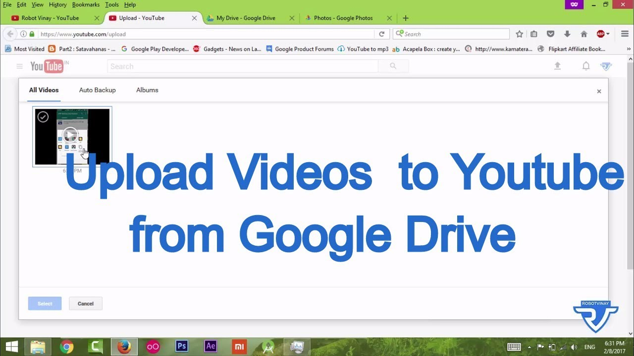 How To Upload Videos To Youtube From Google Drive Youtube