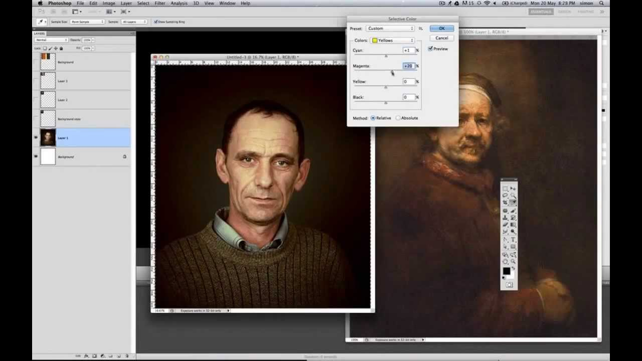 how to make a photo look like an oil painting in photoshop