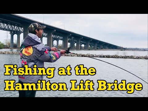 FISHING AT THE HAMILTON LIFT BRIDGE
