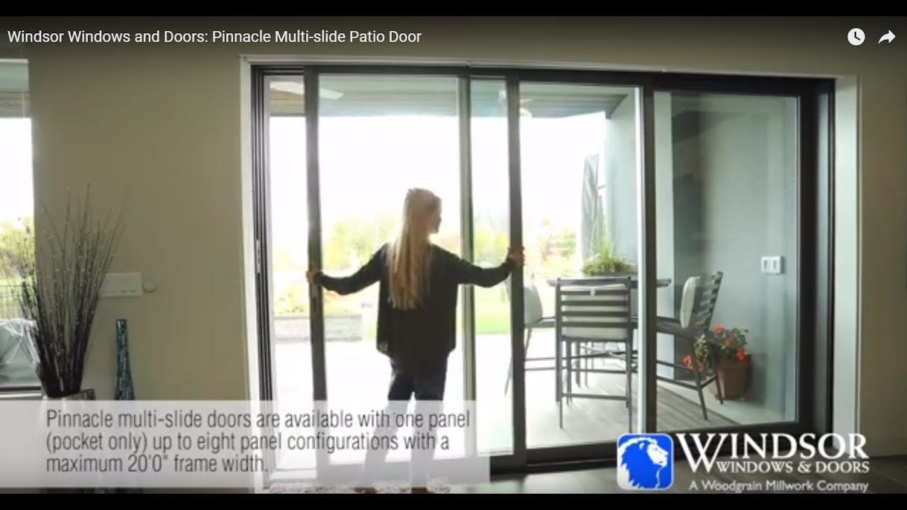 Windsor Windows And Doors Pinnacle Multi Slide Patio Door