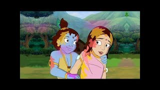 Radha Krishna's - Holi in Vrindavan | Kids Cartoon
