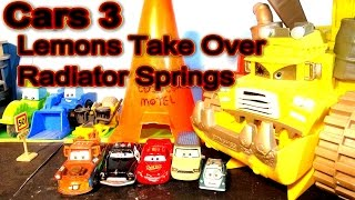 Pixar Cars 3 Lightning McQueen the Nightmare Continues, The Lemons Take Over The Town