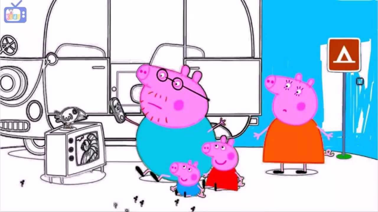 Peppa Pig  Colorear a Peppa Pig Y su Familia Juego de pintar