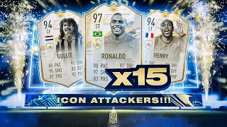 15x ICON ATTACKER PACKS!!! FIFA 21