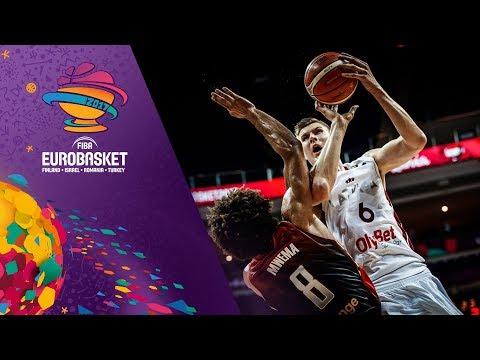 Kristaps Porzingis' HUGE GAME (27pts) in Latvia's first FIBA EuroBasket 2017 win!