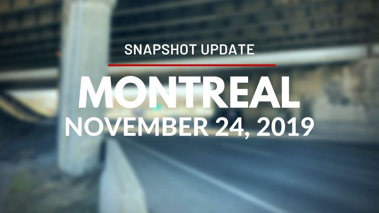 Snapshot Update for Montreal Station - November 24, 2019