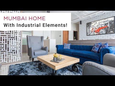 Industrial & Modern Vibes - Home Interiors Mumbai   Livspace
