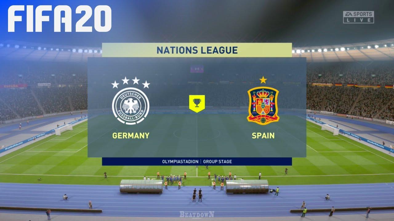 Fifa 20 Germany Vs Spain Nations League Youtube