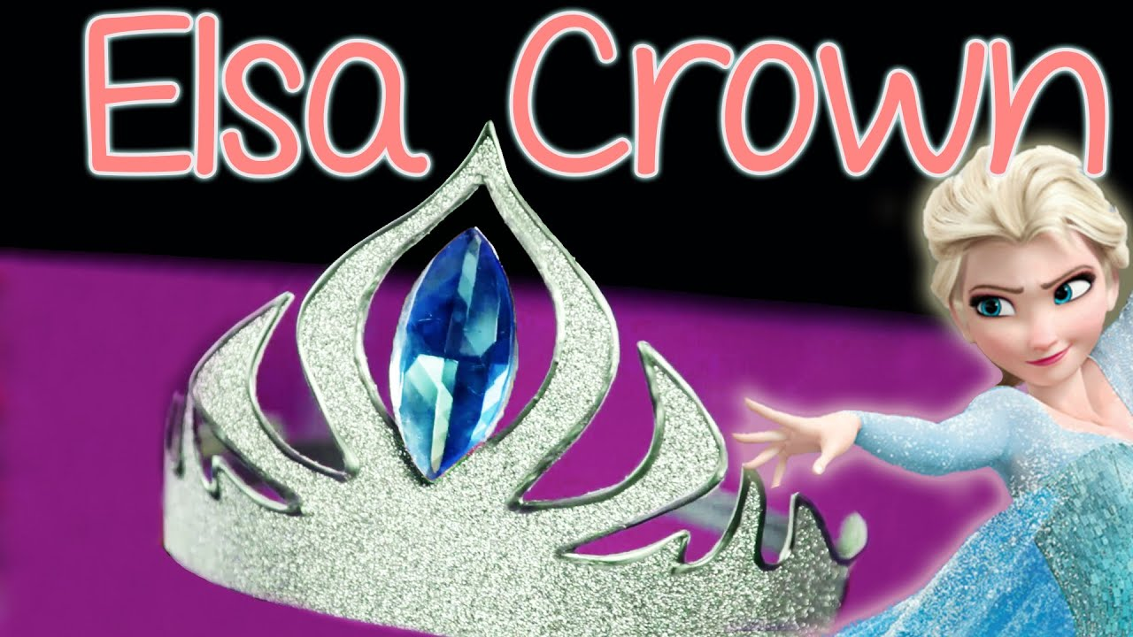 DIY Elsa Crown - Abbe Crafts - YouTube