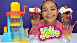 Jelly Fun Slushy Maker - DIY Giant Rainbow Slush Drinks - Gummy Candy Desserts Treats