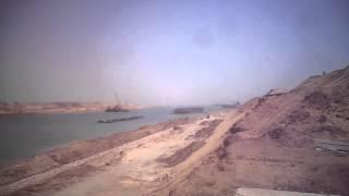 تدبيش المدخل الجنوبي لقناة السويس الجديدة قبل شهرين من الافتتاح