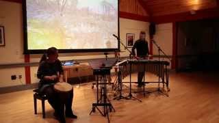 footprints in the snow // percussion duo