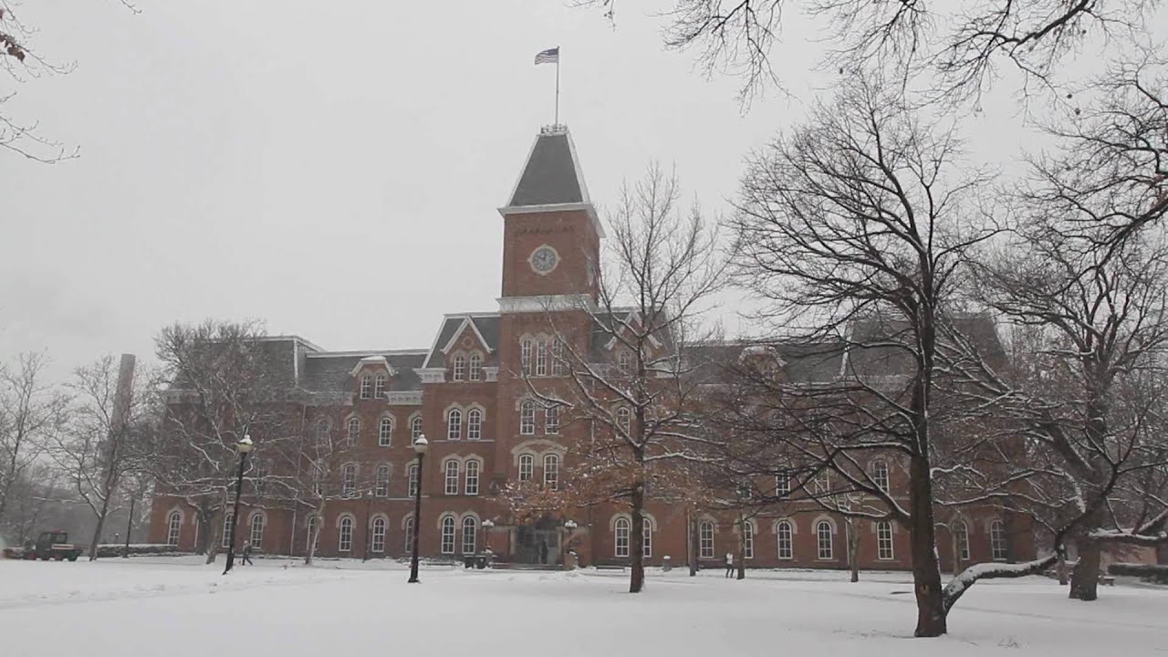 ohio state university during a heavy snowstorm youtube