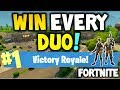 How to win every time : FORTNITE Battle Royale  - DUO - EASY -  Xbox One, Playstation 4 or PC