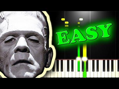 MONSTER MASH - KARAOKE VERSION - Easy Piano Tutorial