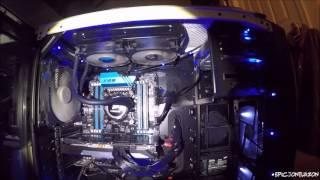 Corsair Custom I7 DDR4 Liquid Cooled Computer Build Pt.3