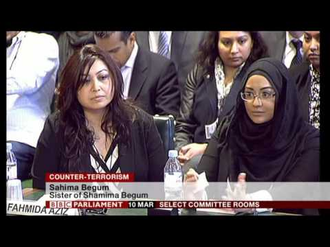 Video 1 - 10th March 2015 - Home Affairs Select Committee  - 3 Girls from Bethnal Green Academy