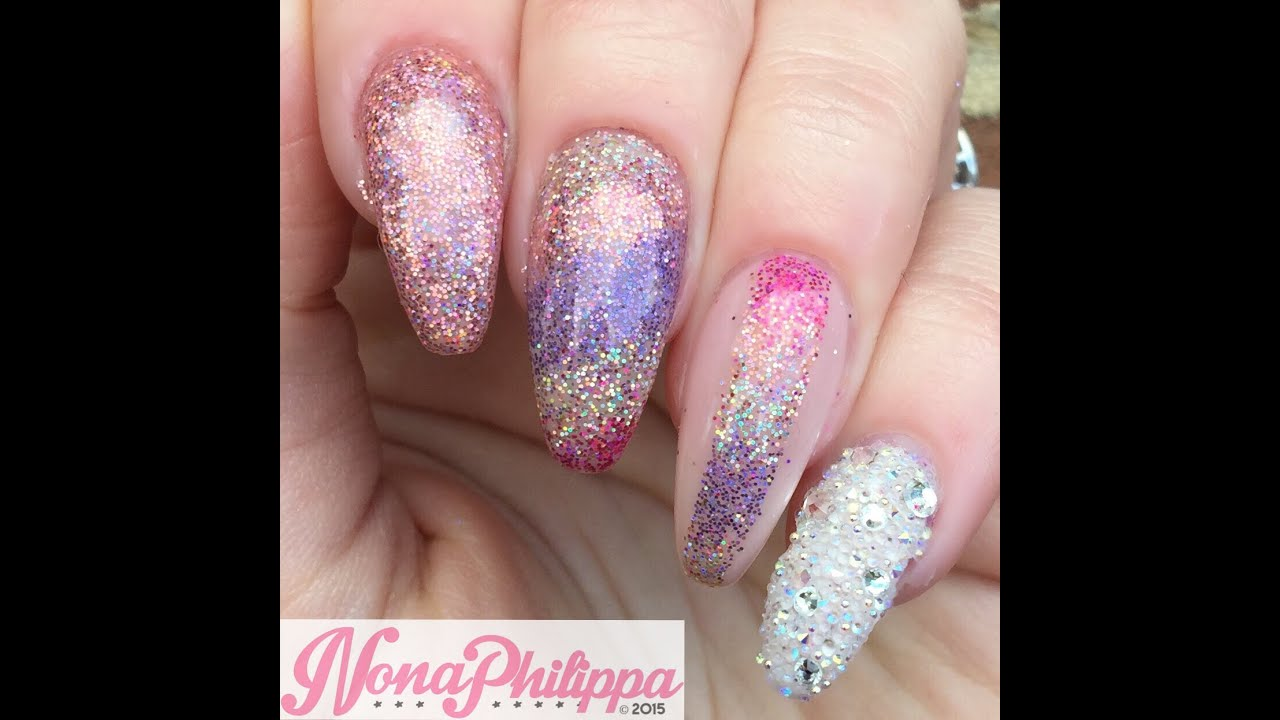 Glitter Ombre Cut Out Nail Art Tutorial