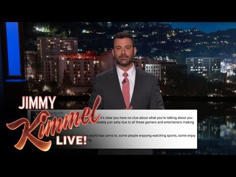Kimmel reacts to the negative responses on the video where he made fun of people watching other people play games