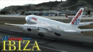 ✈ {FSX} Air Europa 777-200 to Ibiza, Spain