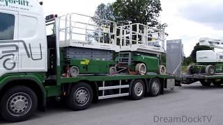 scania special pickup truck unloading working platform manlift
