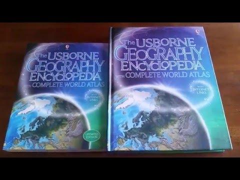 Usborne Geography Encyclopedia w/ Complete World Atlas