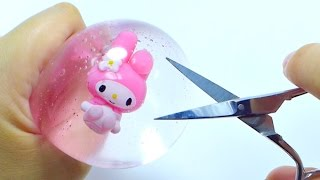 Freezing & Cutting Open My Melody Water Pudding Squishy