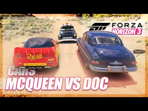 Forza Horizon 3 - Cars Recreation!! (McQueen vs Doc Hudson)