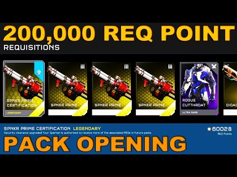 200,000 REQ Point Spending Spree! Halo 5 Guardians Pack Opening!