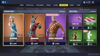 Peau De NOUVEAU GLIMMER, Flurry Pickaxe - CRYSTAL CARRIAGE Glider - 25 décembre Fortnite Item Shop
