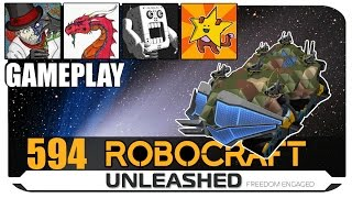 Aavak Lathland Shomofo And Table - Four Fine Fellows Robocraft Gameplay 4