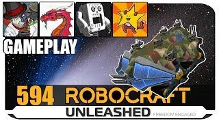 Aavak Lathland Shomofo And Table - Four Fine Fellows Robocraft Gameplay 4