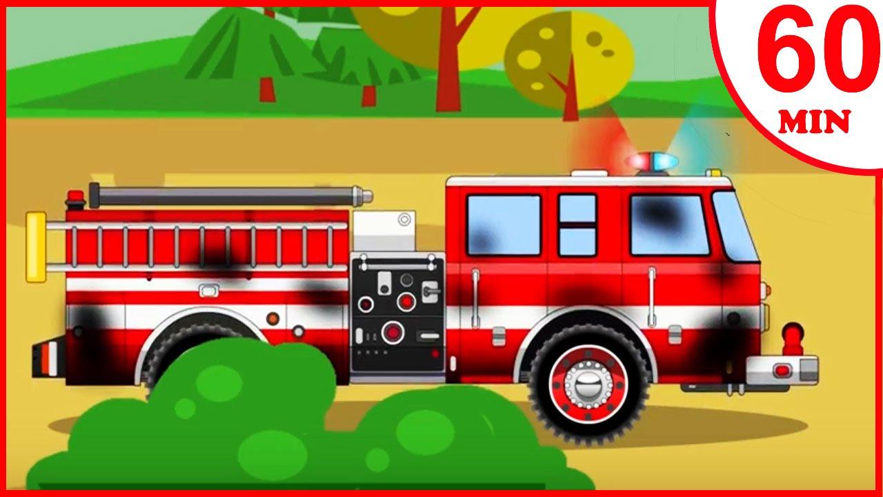 Camion De Pompiers Rouge Dessin Anime Francais Video Educative