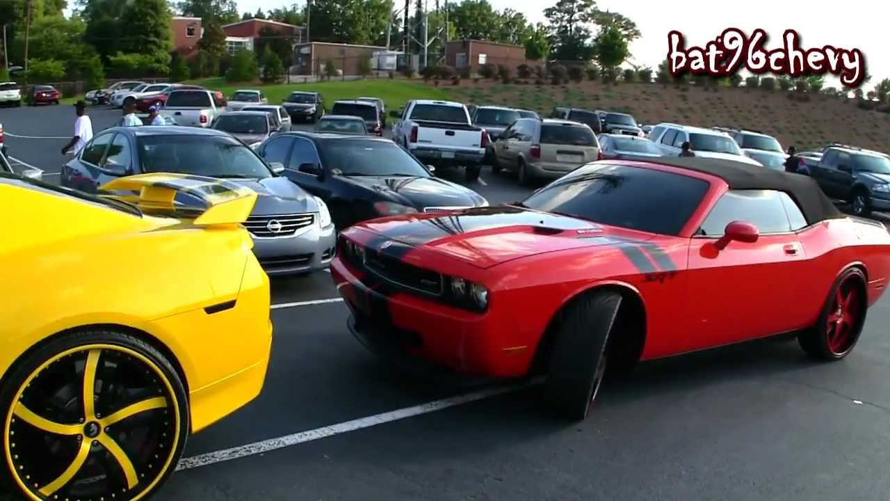 Dodge Challenger Convertible >> Hummer H2 on 32's, CONVERTIBLE Challenger & SS Camaro on Forgiato 24's/26's - 1080p HD - YouTube